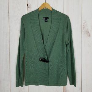 Carole Little   Green Merino Wool Sweater - XL